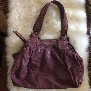 Lucky leather hobo purse